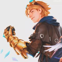 Ezreal League Of Legends, Lol League Of Legends, Xayah And Rakan, Mobile Legends, Esports, Matching Icons, Anime, Couples, Artist