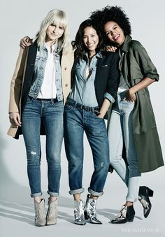 3 Top Bloggers Style the Fall Jeans You Need Now via @WhoWhatWear #rimarama #fireonthehead