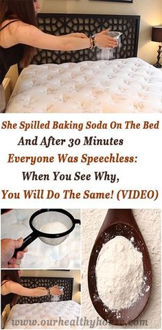 She Spilled Baking Soda on the Bed and immediately after 30 Minutes Absolutely everyone Was Speechless: Any time you See Why, You are going to Do precisely the same! Diy Cleaning Products, Cleaning Solutions, Cleaning Hacks, Cleaning Schedules, Cleaning Routines, Health Remedies, Home Remedies, Natural Remedies, Cleaning Tips