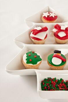 Los cupcakes en Navidad quedarán perfectos.