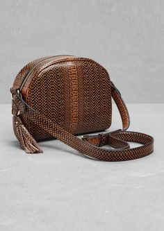 & Other Stories | Reptile Texture Tassel Leather Bag