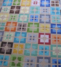 Urban Delight Modern quilt  quick and easy geometric by GetaGrama, $9.50