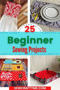 Take a look at these 25 easy sewing projects that you can make in 30 minutes or less. These sewing projects are great for beginners. Everyone of these 25 projects come with a free tutorial. If you are looking for sewing patterns that are quick and easy to construct, you will love these. If you need a quick DIY gift, you should look at the great sewing projects in this roundup. Have fun making some of these quick and easy projects