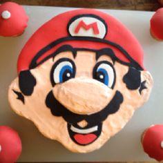 Mario birthday cake.. Brayden would LOVE this!