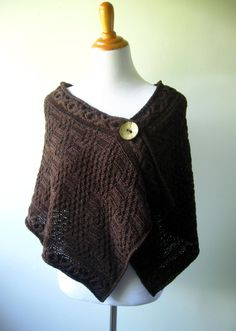 Dark Chocolate Warmth  Hand Knit Wrap / Shawl / by AlmasKnitShop, $150.00