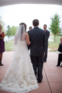 Love the bottom of the dress! It's Watters I think the Victoria Gown