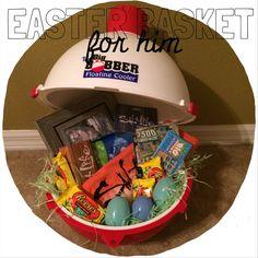 Easter basket for girlfriendboyfriend im so hoppy youre in my easter basket for him man basket fishing easter basket negle Gallery