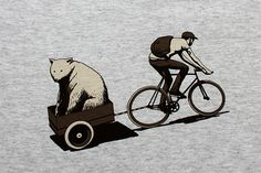 Who doesn't love a bear being pulled along in a cart....K