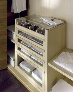 drawers in wardrobe