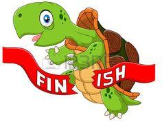 cartone animato: Illustrazione vettoriale di Cartoon vittorie tartaruga…