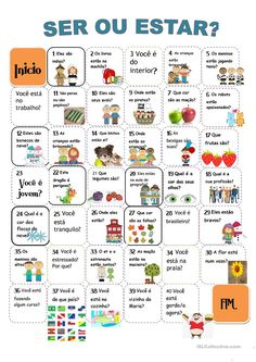 Reasons to Learn Brazilian Portuguese Portuguese Grammar, Portuguese Lessons, Portuguese Language, Portuguese Brazil, Learn Brazilian Portuguese, Spanish Classroom Activities, Teaching Spanish, Word Pictures, Kids Playing