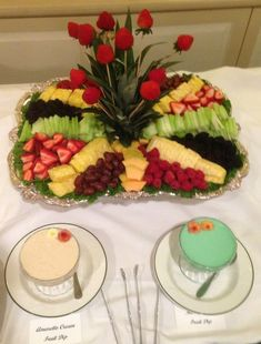 A beautiful fruit tray at Greenbrier Golf & Country Club!: