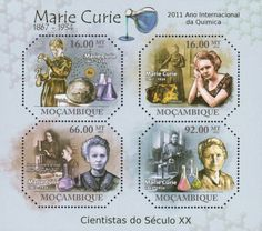 Year of C hemistry, Marie Curie, Nobel Physics, Chemistry Marie Curie, Nobel Prize Winners, Biologist, Chemistry, Physics, Stamps, Ss, Empire, Scientists