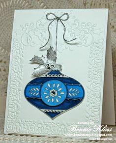 Stamping with Klass: Blue Christmas Bauble