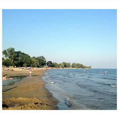 The beach in Cobourg, Ontario during the last days of summer 2012.
