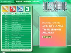 Interchange 4th Edition Arcade: Cambridge University Press - Level 3 Menu