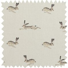 Fabric By The Metre - 'Hare'. This gorgeous Hare fabric is 100% cotton and can be bought 'by the metre.' The design features the brown Hares racing over a neutral stone background colour.  Perfect for making your own tablecloths, curtains, cushions and blinds or for upholstering chairs and other furniture.