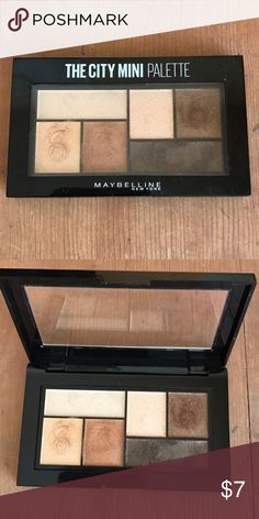 Maybelline City mini palette, all colors swiped a couple times. Has been sanitized. Maybelline Makeup