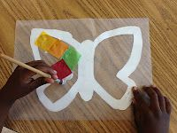 Little Miss Glamour Goes to Kindergarten: bugs! Love the wax paper butterfly cr… Little Miss Glamour Goes to Kindergarten: bugs! Love the wax paper butterfly craft idea Wax Paper Crafts, Paper Butterfly Crafts, K Crafts, Paper Butterflies, Easter Crafts, Crafts For Kids, Arts And Crafts, Spring Art, Spring Crafts