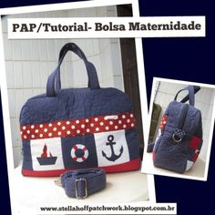 Maternidade- of PAP / Purse Tutorial Goody Bags, Fabric Purses, Fabric Bags, Purse Tutorial, Craft Bags, Diaper Bag Backpack, Patchwork Bags, Denim Bag, Cotton Bag