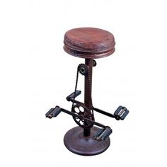Industrial Style Iron Bike Stool