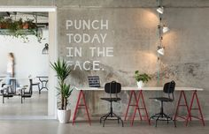 cool WIP coworking space designed by Super ured Architects from Split, Croatia....