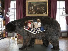 abraham poincheval lives inside a bear for two weeks