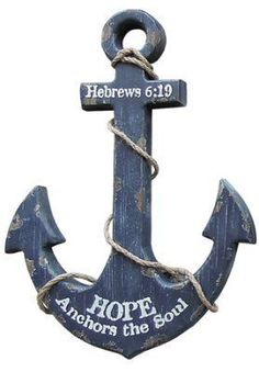 Our Nautical Anchor Wall Art Navy is a rustic anchor wall decor that adds an… Wood Anchor, Nautical Anchor, Anchor Art, Nautical Style, Anchor Crafts, Coastal Style, Anchor Signs, Anchor Quotes, Nautical Design