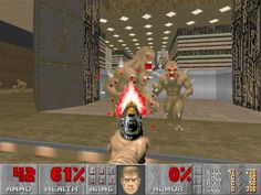 Doom. My dad played all these games and would let me just walk around after he'd killed all the monsters because I was afraid of them.