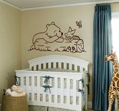 Winnie The Pooh And Piglet Kids Nursery Wall By Wallfroggraphics 15 95 Crib