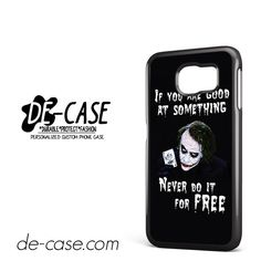Joker Quotes DEAL-5943 Samsung Phonecase Cover For Samsung Galaxy S6 / S6 Edge / S6 Edge Plus