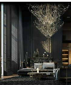 Luxurious Black and Gold Interior Apartment Design by Iryna Dzhemesiuk & Vitaliy Yurov Zeitgenössisches Apartment, Apartment Interior Design, Apartment Goals, Apartment Ideas, Contemporary Apartment, Contemporary Bedroom, Contemporary Design, Modern Design, Contemporary Building