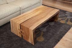 Maple single slab bi-fold coffee table    www.urbanhardwoods.com