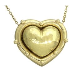 Pre-owned Tiffany & Co. 18K 750 Yellow Gold Paloma Picasso Heart... (9.290 BRL) ❤ liked on Polyvore featuring jewelry, necklaces, gold chain necklace, gold heart necklace, yellow gold heart necklace, chain pendant necklace and 18k gold necklace