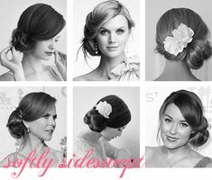 Post title says 60 hairstyles for brides but I think there are ideas for many fancy occasions here