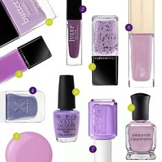 Rank & Style   Top Ten Fashion and Beauty Lists - Lilac Nail Polishes #rankandstyle