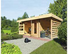 details zu karibu gartenhaus spelle 19 mm 4,92 x 2,37m mit, Moderne