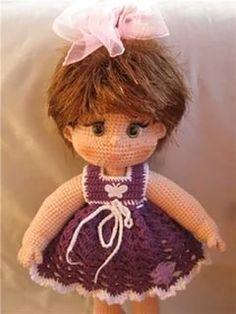 Вязание для больших кукол крючком 33