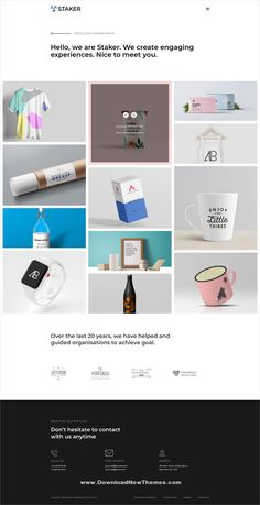 Buy Staker - Creative Agency, Landing Page & Multipurpose PSD Template by Theme_Ui on ThemeForest. Staker – Creative Multi Purpose PSD Template staker PSD is a creative multi-purpose design pack Comes up 285 PSD. Blog Layout, Portfolio Layout, Creative Portfolio, Portfolio Website, Page Design, Ux Design, Modern Design, Real Estate Business, Environmental Graphics