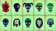 Download Suicide Squad Logo Members 5K Wallpaper 5120x2880