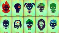 Download Suicide Squad Logo Members 5K Wallpaper 5120x2880