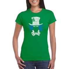 Los Angeles Pop Art Juniors' Iconic People AND Symbols Word Art Graphic Tee, Size: Medium, Green