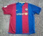 For Sale - Barcelona FC Nike FitDry Soccer Jersey ~ Men's XL ~ Unicef Striped FCB - See More at http://sprtz.us/BarcelonaEBay