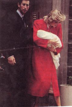 September 16, 1984: Princess Diana with her newborn son Prince Harry posing for photographers outside St Mary's Lindo Wing, Paddington.