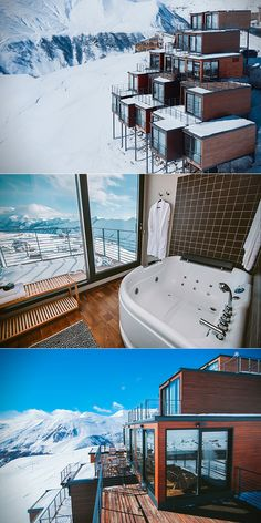 The Quadrum Ski Resort looks like a Minecraft mod at first, but it's a real place located 2,000 meters above sea level in the Caucasus mountains. Not just any resort, it's made entirely from re-purposed shipping containers that sit on stilts to provide the best views possible.