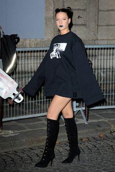 Adèle Exarchopoulos au défilé Fenti x Puma / Toutes aux premiers rangs des défilés parisiens ! / Fashion Week Paris