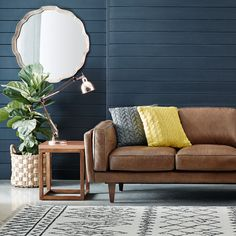Brooklyn 3 seat sofa in Oxford Tan was $2699, NOW $1899 #freedomautumnsale