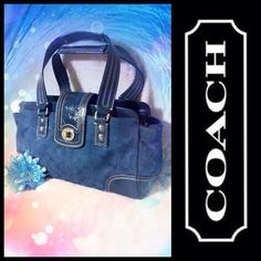 Coach Hampton Signature Ocean Blue Jacquard Satchel Bag Handbag Purse #F13975 | Clothing, Shoes & Accessories, Women's Handbags & Bags, Handbags & Purses | eBay!