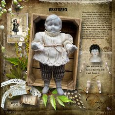 Restored...this page idea would be great to use for documenting a precious family heirloom. Let your children know the history and significance of each treasured piece so they can share the stories with their kids!
