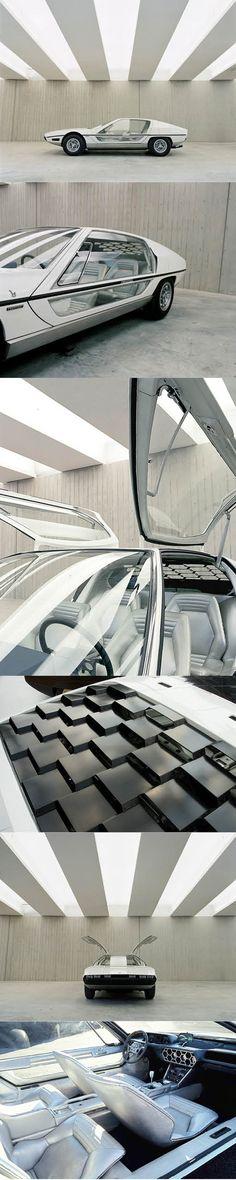 1967 Lamborghini Marzal / Marcello Gandini / Bertone / concept / white / photography: Benedict Redgrove